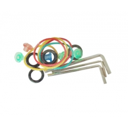 TATTOO MACHINE SPARES KIT Allen keys grommets elastic bands silicone contact spring o ring a set of wrenches tattoo machine O rings tattoo machine rubber bank tattoo needle pad weight 25 grams